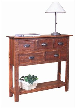 2 Day Designs 4096 Cumberland Sideboard with Five Drawers, Lower Shelf and Iron Drawer Pulls in