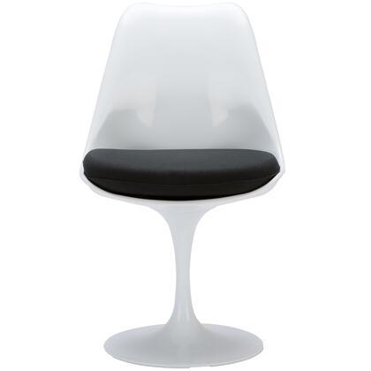EdgeMod EM106BLK Daisy Series Modern Fabric Plastic Frame Dining Room Chair