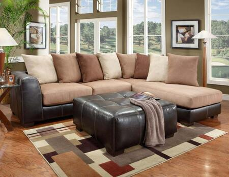 Chelsea Home Furniture 6350SECSRS Landon Series Sofa and Chaise Fabric Sofa
