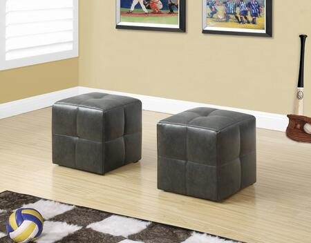 """Monarch I 816X 12"""" 2 Piece Ottoman with Sturdy Construction, Comfortably Padded and Tufted"""