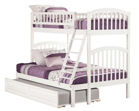 Atlantic Furniture AB6423 Richland Twin Over Full Bunk Bed With Raised Panel Bed Drawers