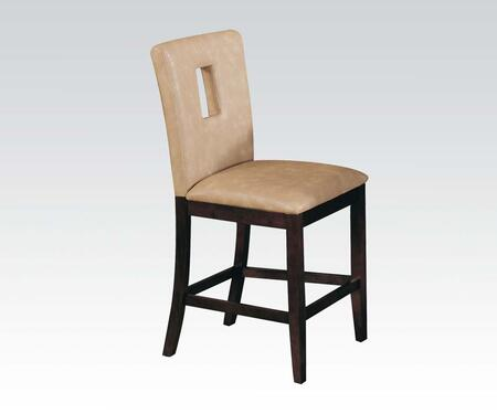 Acme Furniture 16777 Britney Series Bycast Leather Upholstered Bar Stool