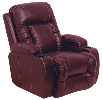 """Catnapper TopGun Collection 37"""" Media Chaise """"Inch Away"""" Recliner with Cupholders, Dramatic Contrast Stitching, Plush Padded Arms and Valentino Bonded Leather-Touch in"""