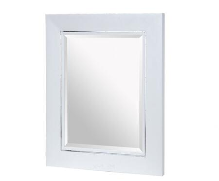 Xylem MMANHATTAN36WT  Rectangular Portrait Bathroom Mirror