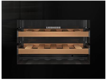 """Liebherr HWGx1803 24"""" Wine Cooler with 18 Bottle Capacity, Single Zone, LCD Display with Digital Temperature Display, 3 Wooden Grid Shelves, in"""