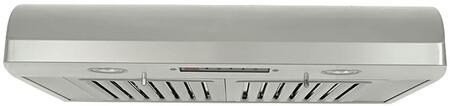 """Kobe CH223XSQB-1 XX"""" Under Cabinet Range Hood With 720 CFM, 4.5 Sones, Multi Exhaust Ducting, 6 Speed Control, Bright LED Lights, Dishwasher Safe Professional Baffle Filter, In Stainless Steel"""