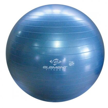"""Element Fitness E-100-ABGB Antiburst Ball with 8"""" Hand Pump in Blue"""