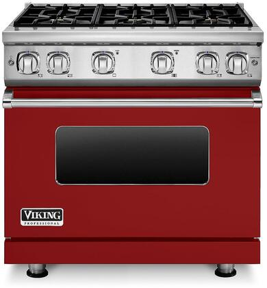 "Viking VGR73616B 36"" Professional 7 Series Natural Gas Range with 6 Sealed Burners, SureSpark Ignition System and VariSimmer Setting, in"