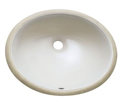 "Avanity CUM18 18"" Oval Undermount Oval Shaped Vitreous China Sink with 1.8"" Drain Opening, Polished Interior, and Overflow Outlet in"