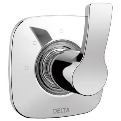 Tesla T11852 Delta Tesla: 3-Setting 2-Port Diverter Trim in Chrome