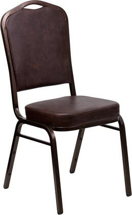 "Flash Furniture HERCULES Series FD-C01-COPPER-XX-VY-GG 18.25"" Crown Back Stacking Banquet Chair with Vinyl, 2.5"" Thick Seat, Copper Vein Frame, 16 Gauge Steel Frame, and Ships Fully Assembled"