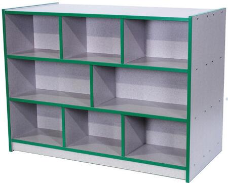 Mahar N30900 Double-Sided Storage Unit in Gray Nebula Finish with Edge Color (Youth)