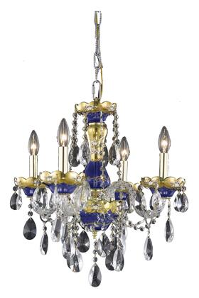 Picture of 7810D19BESS 7810 Alexandria Collection Hanging Fixture D19in H20in Lt 4 Blue Finish Swarovski StrassElements