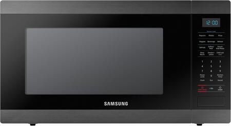 "Samsung MS19M8000A 24"" Countertop Microwave with 1.9 cu. ft. Capacity, Sensor Cooking, Turntable, Child Lock, Auto Defrost, and Eco Mode, in"