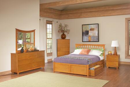 Atlantic Furniture BROFPAWQN  Queen Size Bed
