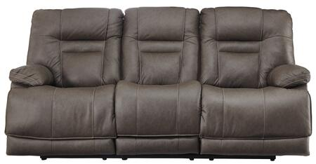 Signature Design By Ashley Wurstrow Leather Match Reclining Sofa