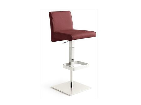 Casabianca TC2009BURGBAR Vittoria Series Residential Leather Upholstered Bar Stool
