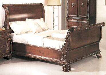 Yuan Tai 1800Q Bailey Series  Queen Size Sleigh Bed