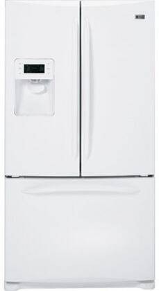 GE PFSF6PKXWW  French Door Refrigerator with 25.8 cu. ft. Total Capacity 5 Glass Shelves
