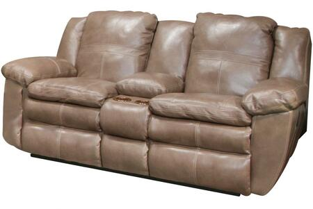 Catnapper 4199128318308318 Aria Series Leather Reclining with Metal Frame Loveseat