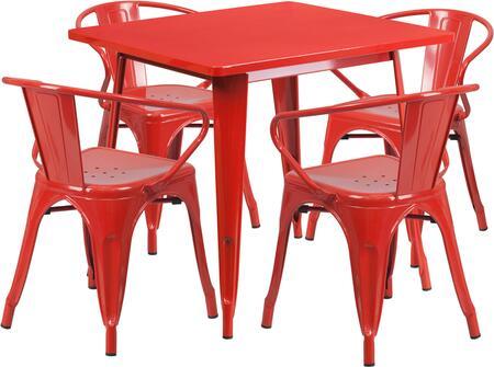 Flash Furniture ETCT002470REDGG Square Shape Patio Sets