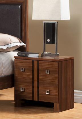 Sandberg 33922 Donatella Series Rectangular Wood Night Stand