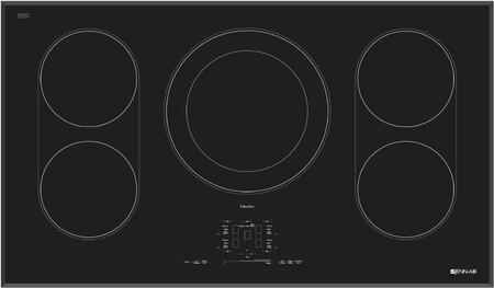 """Jenn-Air JIC4536XT 36"""" Induction Cooktop with 5 Elements, Sensor Boil Function, Keep Warm  Function, Pan Detection, Touch-Activated Controls with Power Slider, in"""