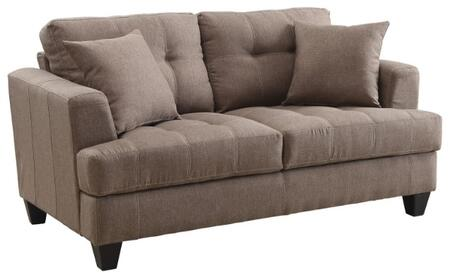 coaster 505172 samuel sofa series fabric stationary with wood frame loveseat - Wood Frame Loveseat