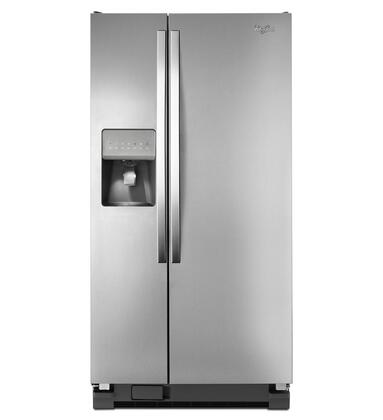 "Whirlpool WRS322FDAM 33""  Side by Side Refrigerator with 21.2 cu. ft. Capacity in Monochromatic Stainless Steel"