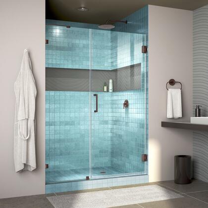Unidoor Lux Shower Door RS30 30D 22IP 06 Blue Tile