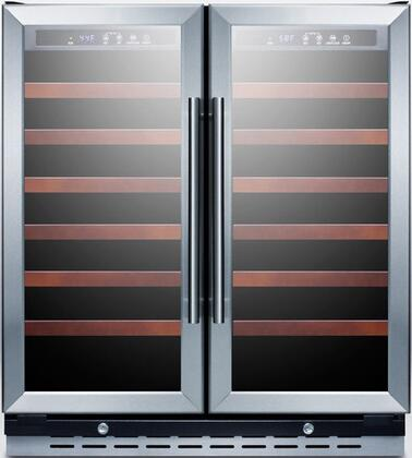 "Summit SWC3066 29.5"" Freestanding Wine Cooler, in Stainless Steel"