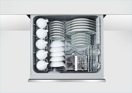 "Fisher Paykel DD24DCT 24"" Tall Double Drawer DishDrawer Dishwasher with 14 Place Settings, 2 Cutlery Baskets, Child Lock, SmartDrive TM Technology and Recessed Handle, in"