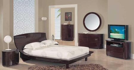 Global Furniture USA B110SKB Sapelle Series  King Size Panel Bed