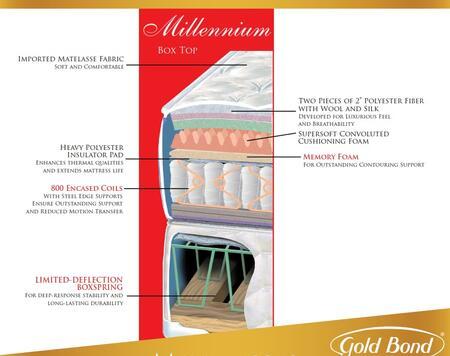 Gold Bond 138BBMILLENNIUMQ Encased Coil Series Queen Size Standard Mattress
