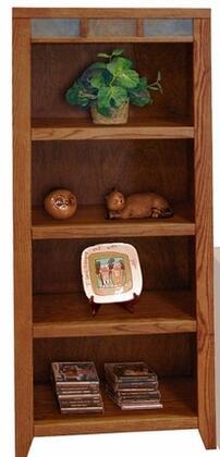 Legends Furniture OC3207GDOOak Creek Series Wood 4 Shelves Bookcase