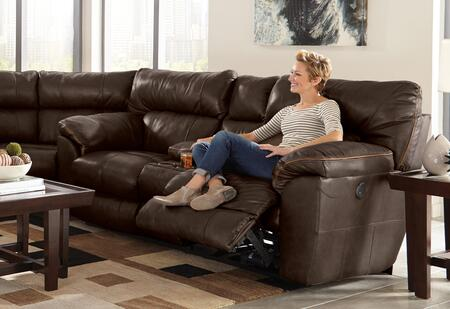 Catnapper 64349128309308309128329 Milan Series Leather Reclining with Metal Frame Loveseat