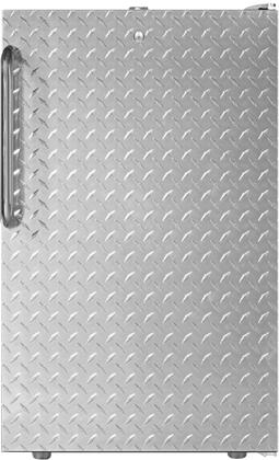 "AccuCold FS407L7xDPLx 20"" Upright Freezer with 2.8 cu. ft. Capacity, 4 Pull-Out Storage Drawers, Reversible Door, Factory Installed Lock and Manual Defrost, in Diamond Plate Finish"