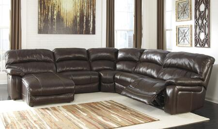 Signature Design by Ashley Damacio U9820X-79-46-77-19-62 5-Piece Sectional Sofa with Left Arm Facing Power Chaise, Armless Chair, Wedge, Armless Recliner and Right Arm Facing Power Recliner