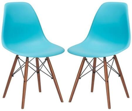 EdgeMod EM105WALAQUX2 Vortex Series Modern Wood Frame Dining Room Chair