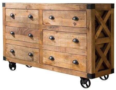 Coaster 950602 Home Accents Series Freestanding Wood 6 Drawers Cabinet