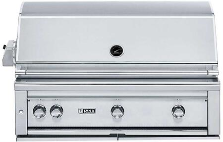 "Lynx L42PSR-2 42"" Professional Series Built-in Grill with 2 Brass Burners, 1 ProSear2 Burner and Rotisserie, 1200 sq. in. Cooking Surface, Dual Halogen Lights, Heat Stabilizing Design, in Stainless Steel:"