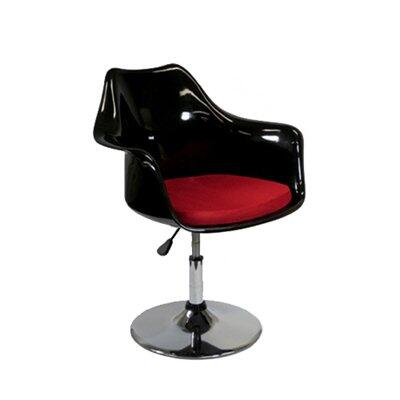 Fine Mod Imports FMI2128BLACKRED Commercial or Residential Suede Upholstered Bar Stool