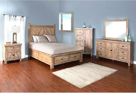 Sunny Designs 2307WBSQBDMNC Durango Queen Bedroom Sets