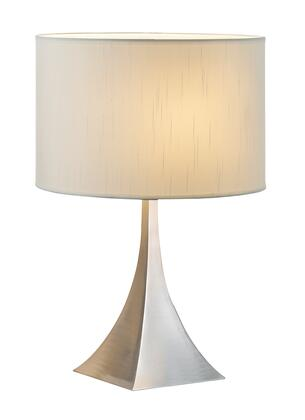 Adesso 636X22 Luxor Table Lamp, Brushed Steel Finish