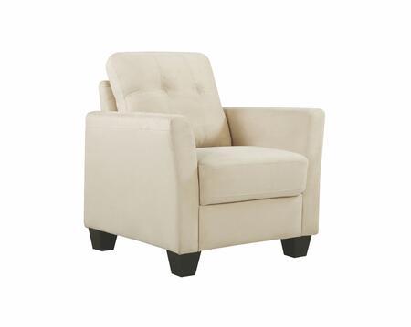Glory Furniture G568C G560 Series Suede Armchair in Beige