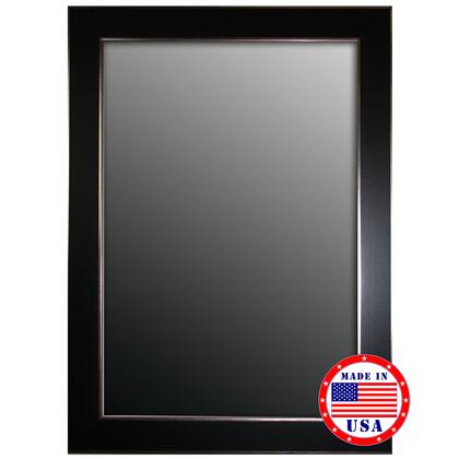 Hitchcock Butterfield 80790X 2nd Look Black Forest/Silver Edged Trim Framed Wall Mirror