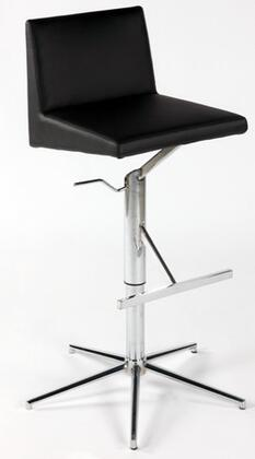 Chintaly 0838AS Residential Bonded Leather Upholstered Bar Stool