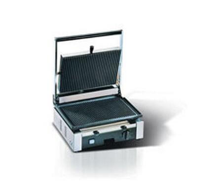 Picture of CORT-R Medium Single Panini Grill 220 Volts  50 Hertz with Cooking Surface 145x10 in Stainless