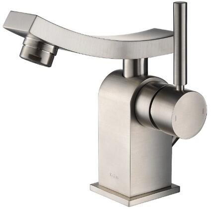 Kraus KEF14301 Exquisite Collection Unicus Bathroom Vessel Lever Faucet with Solid Brass Construction and Kerox Ceramic Cartridge, CAL Green