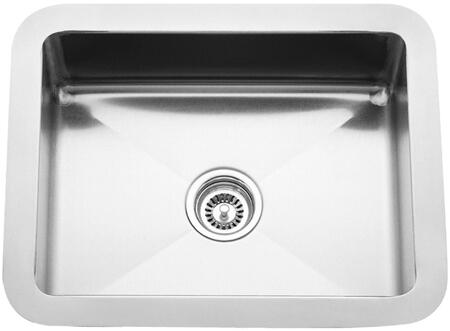 "Barclay PSSSB221 Uberto X"" Undermount Prep Sink with a Rectangular Shape, Solid 16 Gauge, 304 Grade Metal Construction, Mounting Clips and Template in Matte Stainless Steel"